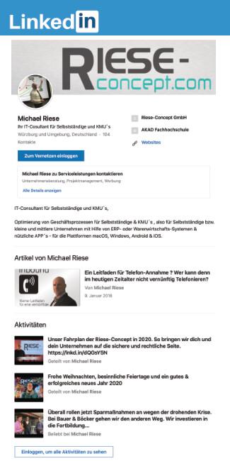 Michael Riese bei LinkedIN https://www.linkedin.com/in/michael-riese-71333a83/